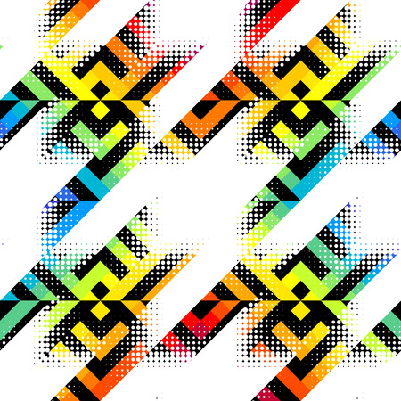 Seamless geometric pattern. Classic Hounds-tooth pattern in abstract style.