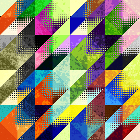Geometrical Hounds-tooth pattern in abstract geometric style.
