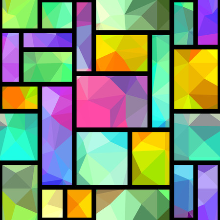 Seamless background pattern. Geometric abstract pattern in patchwork style.