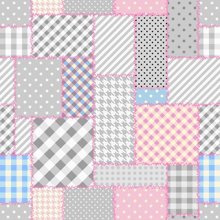 Geometrisch lapwerkpatroon van geometrische vormen. Stock Illustratie