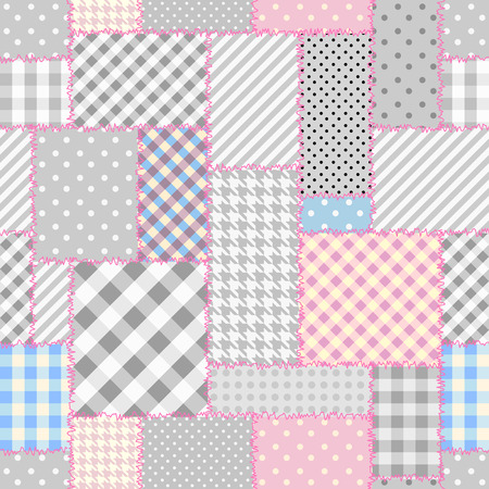 Geometric patchwork pattern of a geometric shapes.