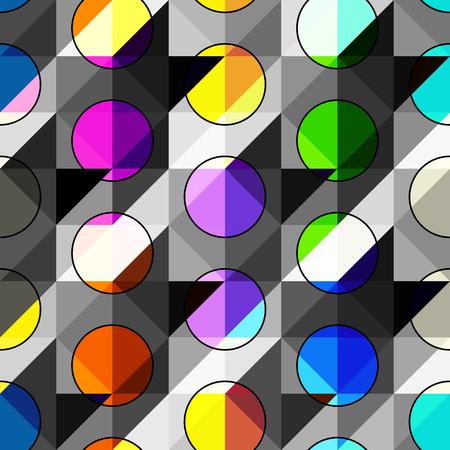 Seamless background pattern. Polka dot geometric abstract pattern.