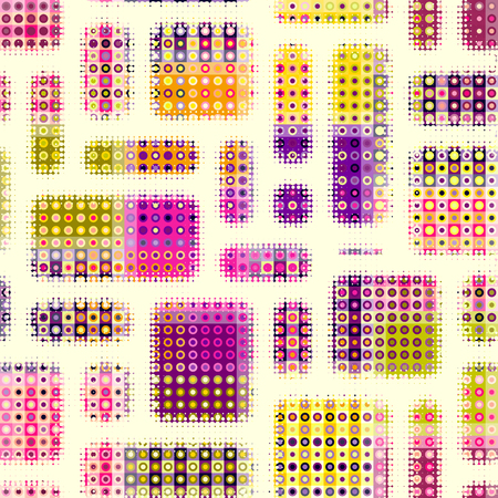 Seamless background. Geometric abstract symmetric pattern in low poly pixel art style. Polka dot pattern on low poly background. 版權商用圖片 - 92622867