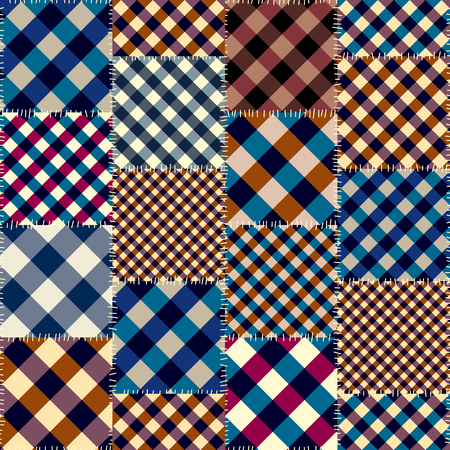 Seamless background pattern. Geometric patchwork pattern of a squares.