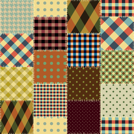 A Seamless background pattern. Geometric patchwork pattern of a squares. Banco de Imagens - 92669641