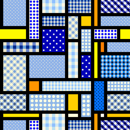 Seamless background. Geometric abstract diagonal pattern in a patchwork style. Ilustração