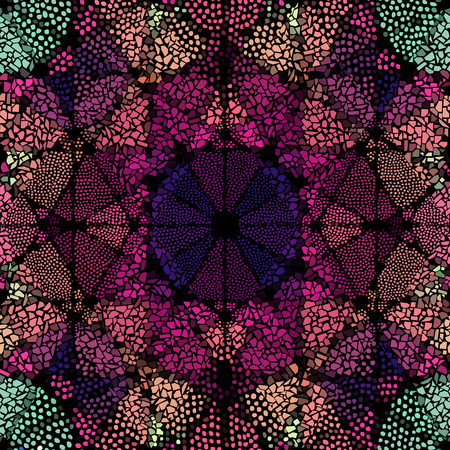Seamless background pattern. Mosaic art pattern of rhombuses of different tile textures. 向量圖像