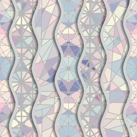 A Seamless Arabic geometric pattern in patchwork style. Vector traditional Muslim background. Banque d'images - 93873552