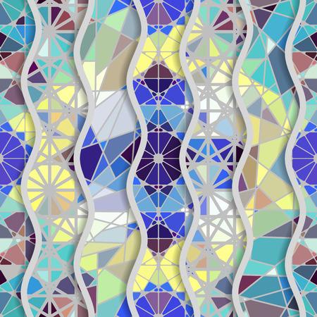 Motif géométrique arabe transparente dans le patchwork de vecteur. fond traditionnel vecteur . Banque d'images - 93867296