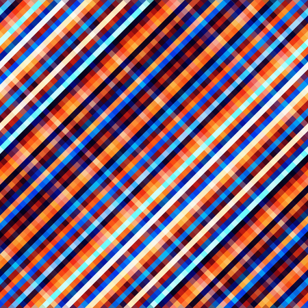 Seamless background. Geometric abstract diagonal plaid pattern in low poly pixel art style.