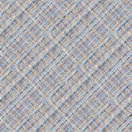 Seamless background pattern. Imitation of a texture of rough canvas painted with plaid pattern.