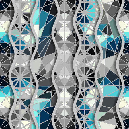 Seamless arabic geometric pattern in patchwork style. Vector traditional muslim background. Banque d'images - 95791515