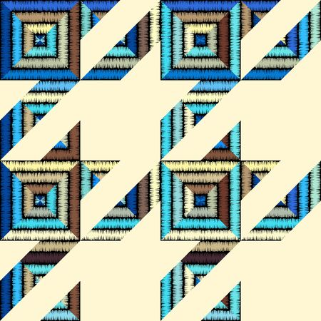 Seamless geometric pattern. Classic Hounds-tooth pattern in a patchwork collage style.