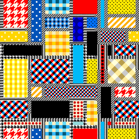 Seamless background. Geometric abstract pattern in a patchwork style. Imagens - 95890538