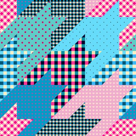 Seamless background pattern. Geometrical Hounds-tooth pattern in a patchwork style. Banco de Imagens - 95890457