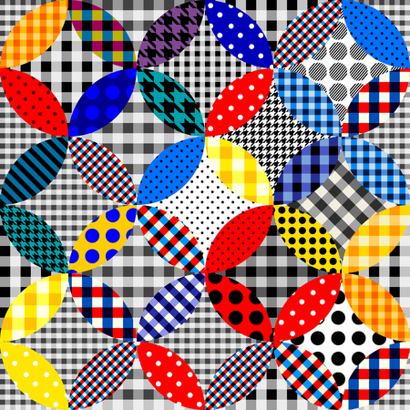 Seamless background pattern. Patchwork pattern of circles.