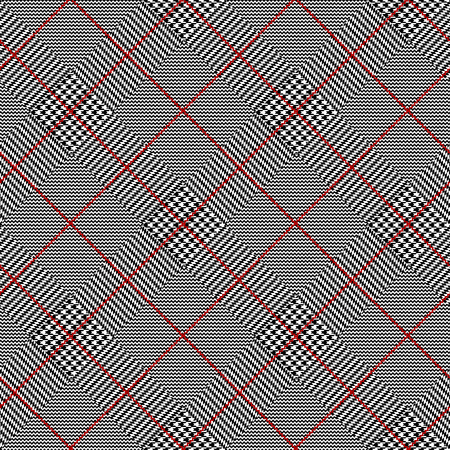 Seamless vector pattern. Classic Glen Plaid pattern.