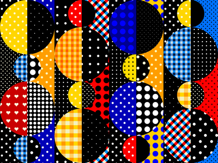 Seamless background  Geometric abstract pattern in a patchwork style.
