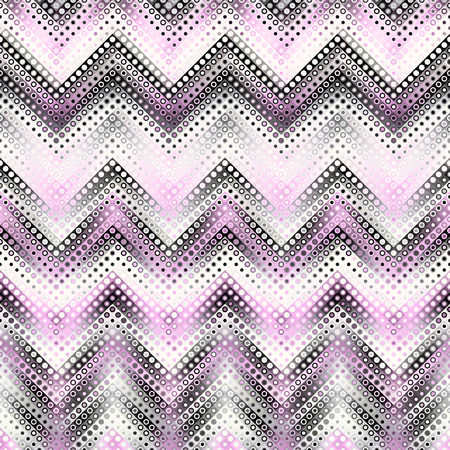Geometric abstract pattern in low poly pixel art style. Polka dot pattern on low poly background. Chevron pattern. Vector image. Illustration
