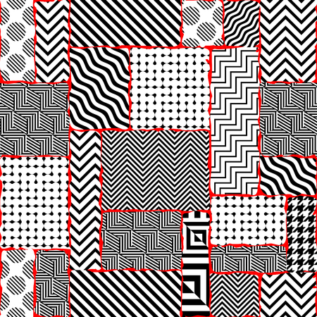 Seamless background. Geometric abstract pattern in a patchwork style. Illustration