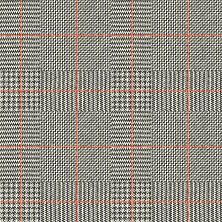 Seamless vector pattern. Fabric texture with Classic Glen Plaid pattern. Vector image.  イラスト・ベクター素材