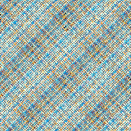Seamless background pattern. Imitation of a texture of rough canvas painted with plaid pattern. Vector image.