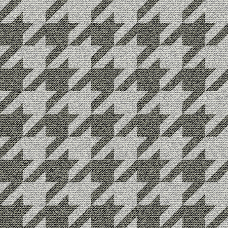 A Seamless background pattern. Geometrical Hounds-tooth pattern with imitation of a fabric texture.