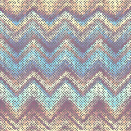 Seamless background pattern. Imitation of a texture of rough canvas painted with chevron pattern. Vector image.