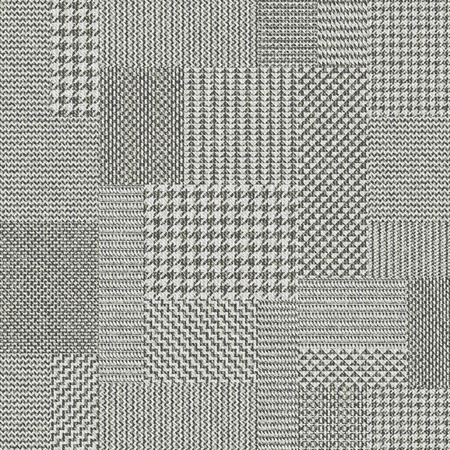 Seamless vector pattern. Patchwork of Classic Glen Plaid patterns. Imitation of a fabric texture. Vector image.