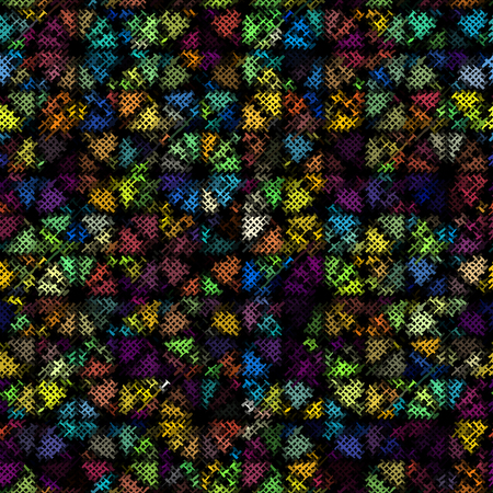 Seamless background pattern. Imitation of a texture of rough canvas. Vector image.
