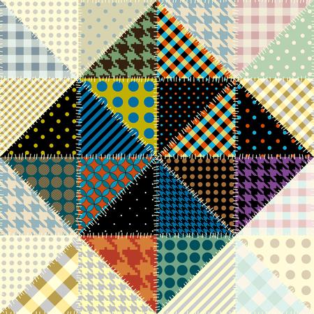 Nahtloses Hintergrundmuster. Patchwork-Muster von Dreiecken. Vektorbild.