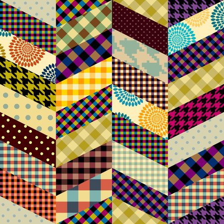 Seamless background pattern. Patchwork pattern in chevron style.. Vector image Vector image. Illustration