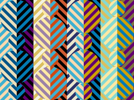 Seamless geometric pattern. Diagonal strips pattern in a patchwork collage style. Vector image.
