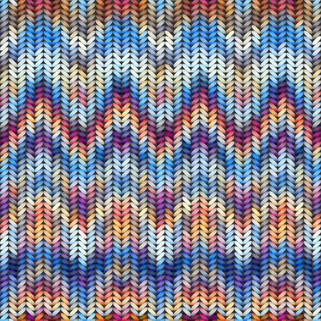 Seamless background pattern. Imitation of Sweater knitting with melange effect.
