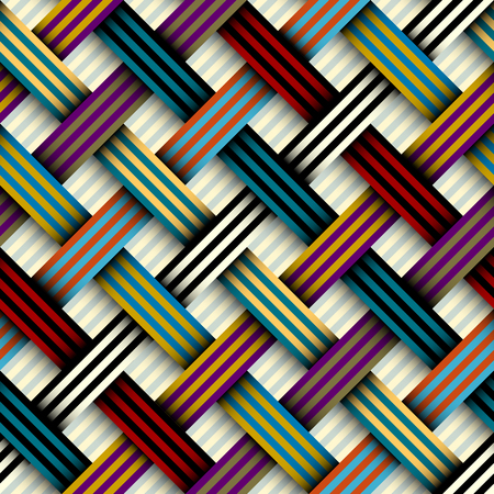 Seamless geometric pattern. Interweaving ribbons texture. Vector image