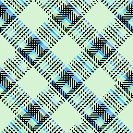 Seamless background. Geometric abstract diagonal plaid pattern. Vector image.