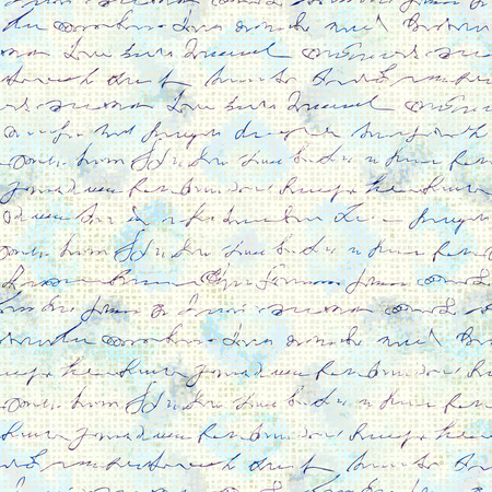 Seamless background pattern. Imitation of a abstract vintage lettering. Unreadable text. Vector image.