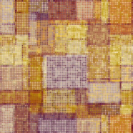 Geometric abstract symmetric pattern in low poly pixel art style. Seamless low poly background. Vector image.