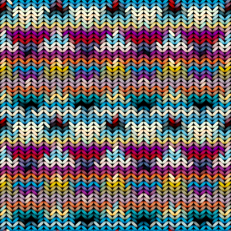 Seamless background pattern. Imitation of Sweater knitting with melange effect.