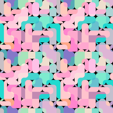Geometric abstract seamless pattern in polygonal style. Vector image.