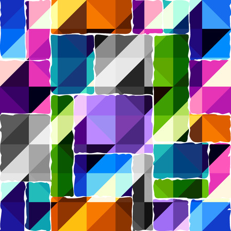 Seamless background pattern. Hounds-tooth pattern in abstract low poly geometric style. Illustration