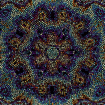 Seamless background pattern. Random mosaic art tile pattern. Random polka dot.