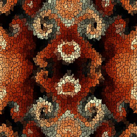 Seamless background pattern. Crackled grunge vintage surface. Vector image.