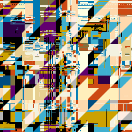 Abstract seamless pattern with imitation of a grunge datamoshing texture. Vector image. Vektorové ilustrace
