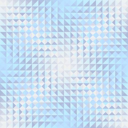 Nahtloser Hintergrund. Geometrisches abstraktes Muster im Low-Poly-Stil. Wirkung eines Glases. Kleine Würfel. Vektorbild.