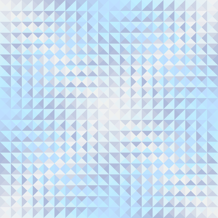 Seamless background. Geometric abstract pattern in low poly style. Effect of a glass. Small cubes. Vector image. Ilustração