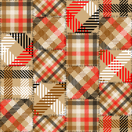 Seamless background pattern. Patchwork pattern. Vector image. Banco de Imagens - 127699766
