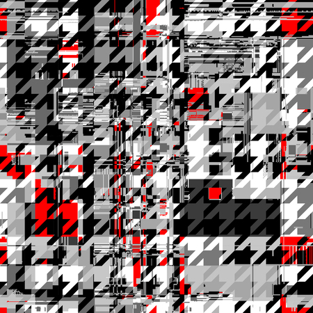 Abstract seamless pattern with imitation of a grunge datamoshing texture. Vector image.