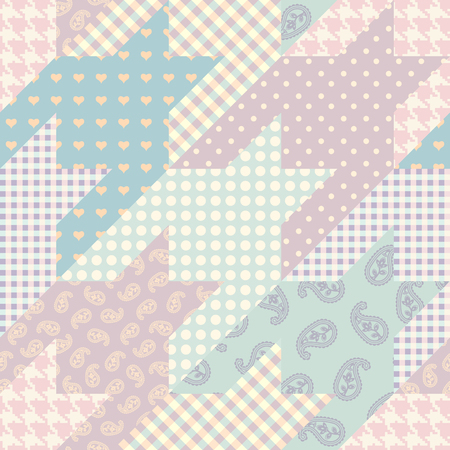 Seamless background pattern. Patchwork pattern. Vector image  イラスト・ベクター素材