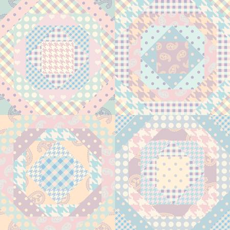 Patrón de fondo transparente. Patrón de patchwork. Imagen vectorial Ilustración de vector